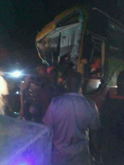 Kumasi Asante Kotoko Team Bus Completely Destroyed in a Fatal Accident