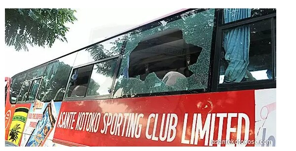 Kumasi Asante Kotoko bus completely destroyed in a gory accident