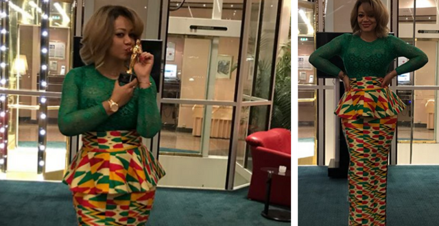 Nadia Buari Wins First Award In 2017 For Her Movie 'Deranged' In Germany