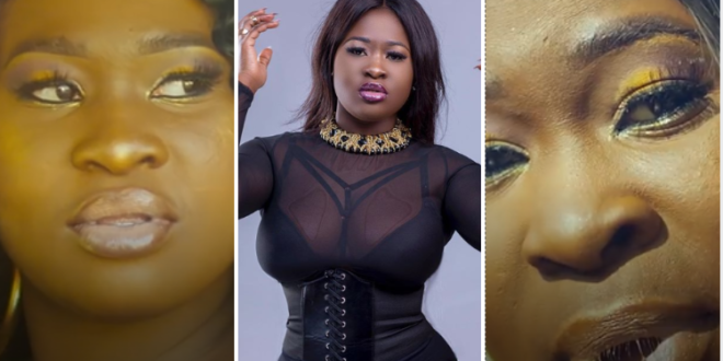 Is Sista Afia Broke? She Couldn't Afford A Professional Make Up Artiste (Photos + Videos)