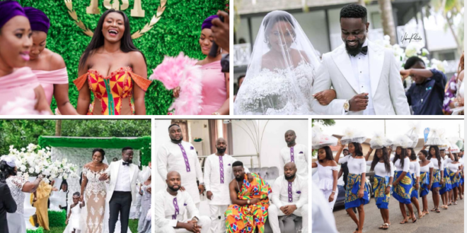 This Love Is Unbreakable: Take A Look At These Pictures From Sarkodie & Tracy's Wedding–More & More Photos