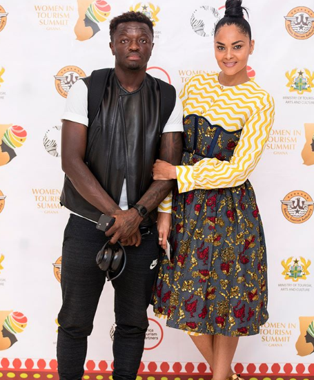 A picture of Sulley Muntari and his wife Menaye Donkor