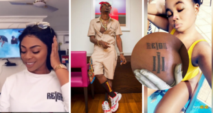 Slay Queen Goes Crazy For Shatta Wale, Tattoos His Album Art On Her Breast