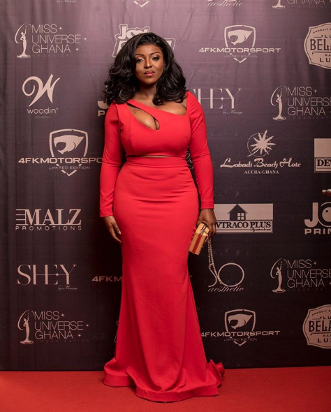Oh My Word! Yvonne Okoro's Big 'Watermelons' Is All You Need To See As She Rocked In This Red Dress (Pictures)