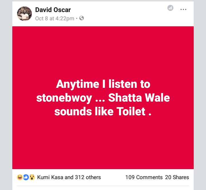 Shatta Wale Songs Are Like Toilet When I Compare Stonebwoy's Songs To Shatta