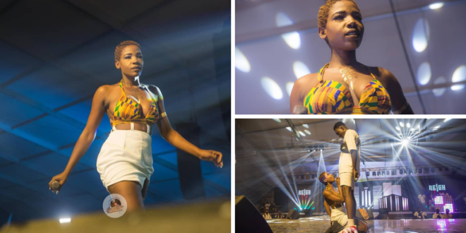 The 'Juju' Girl: Efe Keyz Drives Music Lovers Crazy As She Performs At Reign Album Launch Without Her 'Bra' (+Photos & Video)