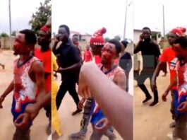 Ashanti Region: Alleged kidnapper battles for life after he was severely beaten for kidnapping two kids [Video]